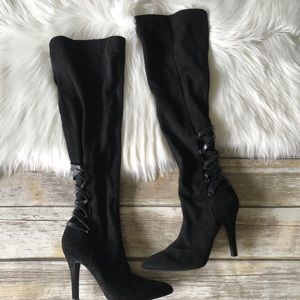 BCBG Over The Knee Boots Lace Back